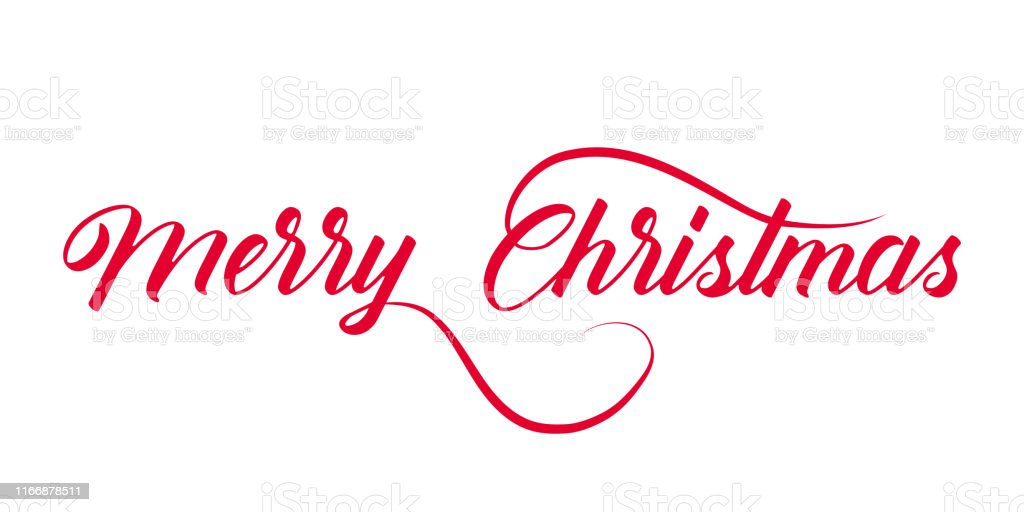 Christmas red vector isolated lettering. Celebration merry christmas....