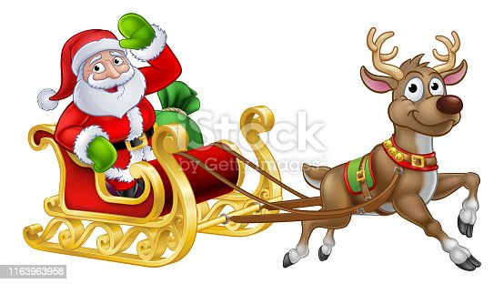 Santa Claus Silhouette Clip Art | Santa sleigh silhouette, Silhouette clip  art, Christmas drawing