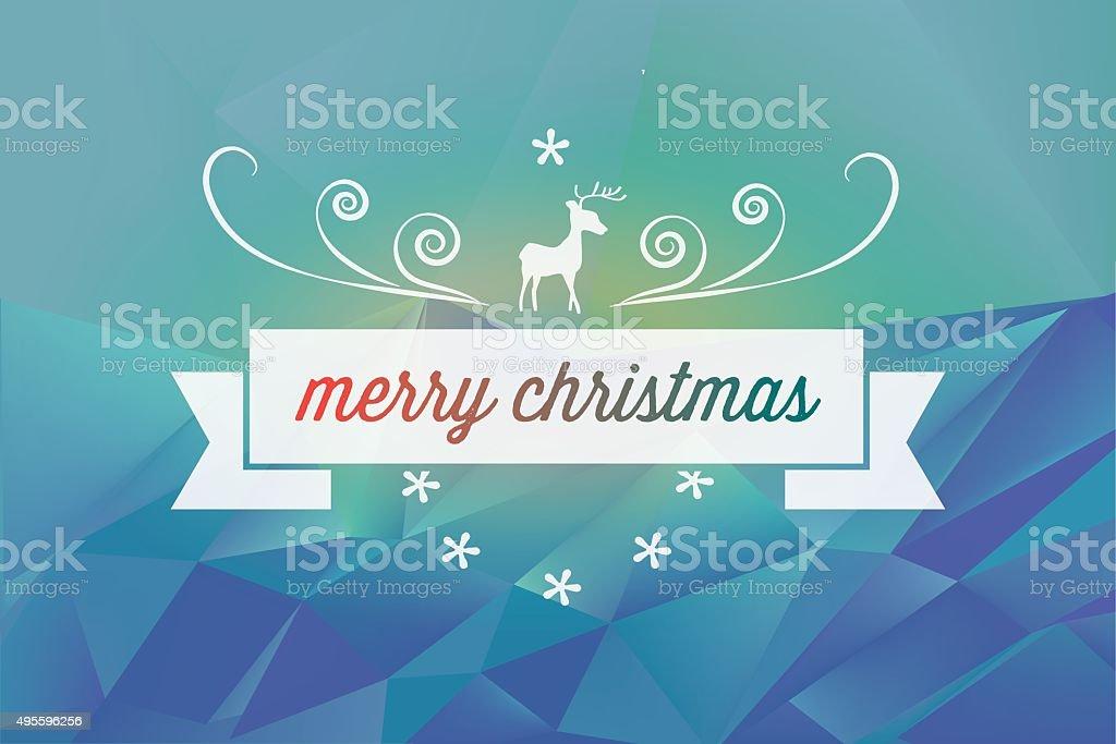 Sfondi Natalizi Renne.Decorazione Di Natale Con Renne Su Sfondo Blu Polygonal Paesaggio