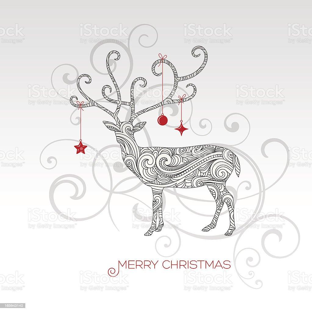 Christmas Reindeer royalty-free stock vector art