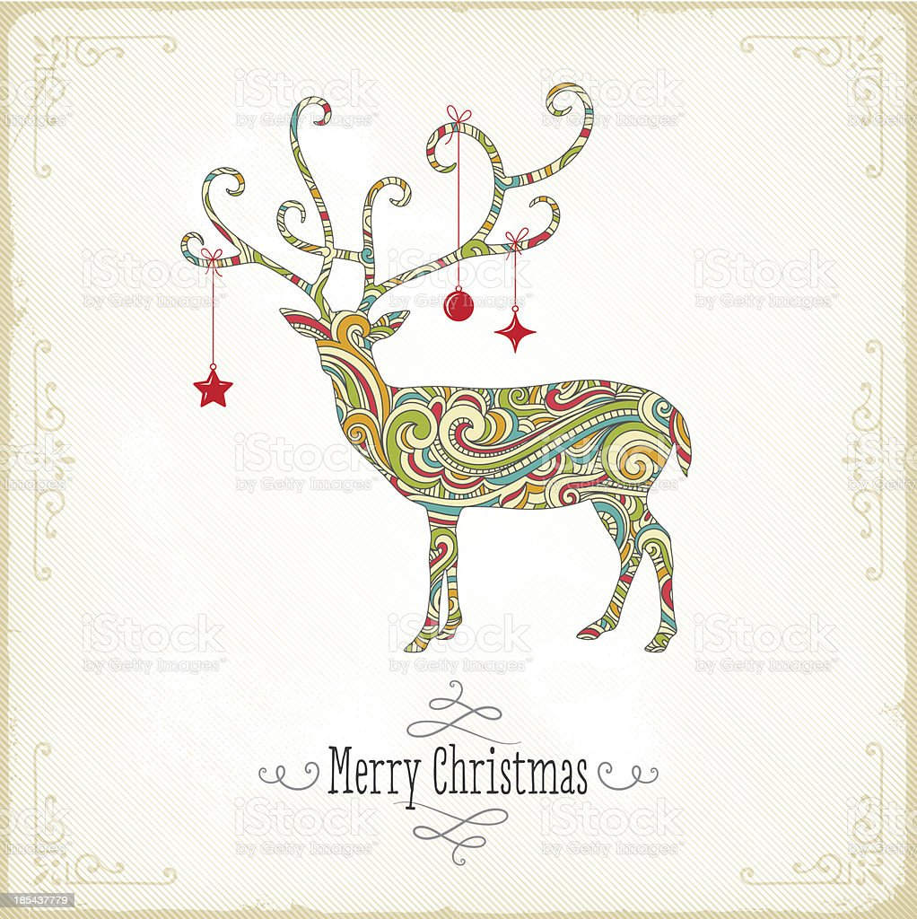 Christmas Reindeer royalty-free stock vector art