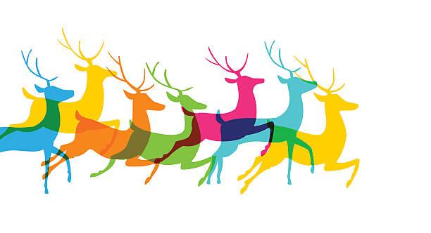 クリスマスのトナカイ - トナカイ点のイラスト素材/クリップアート素材/マンガ素材/アイコン素材