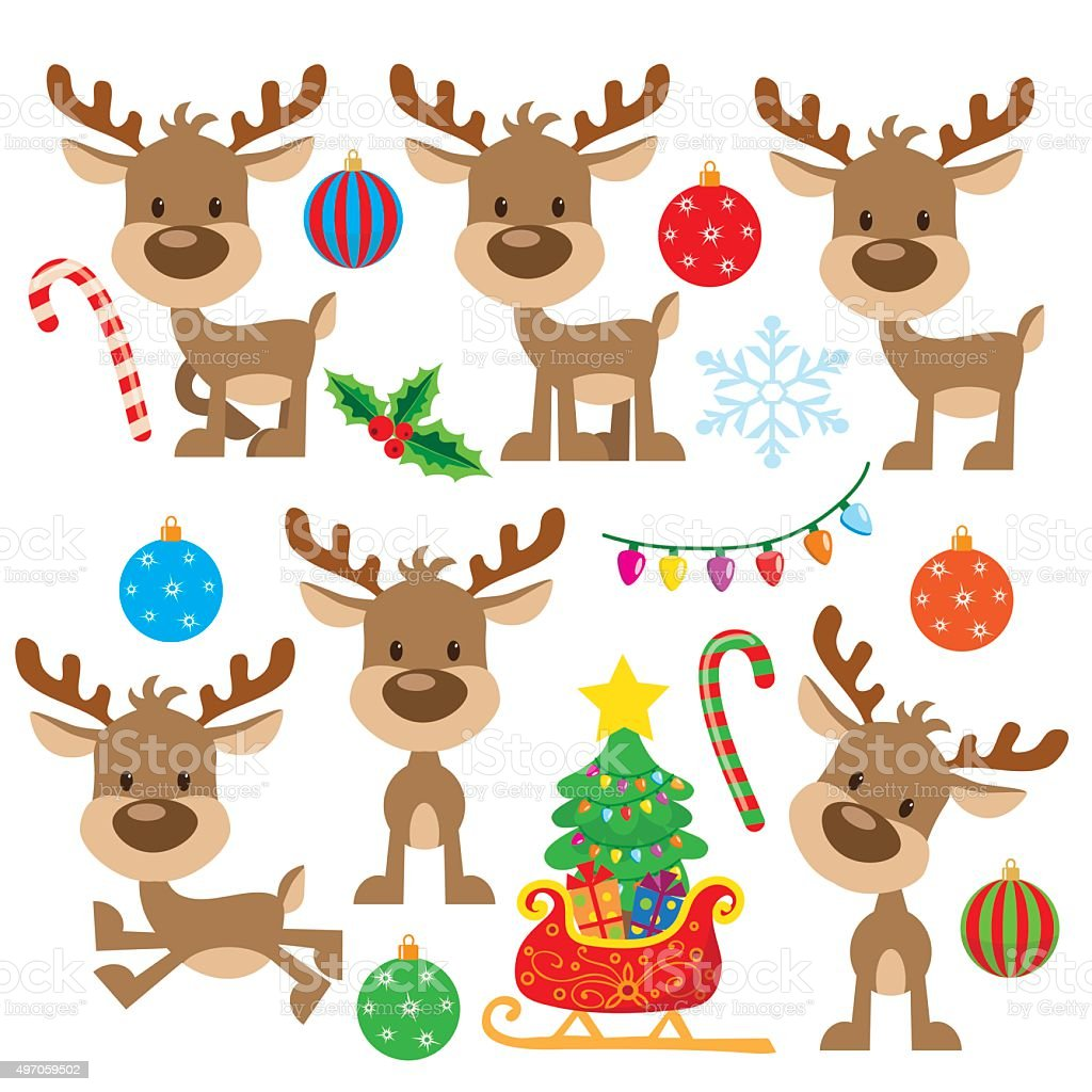 Christmas Reindeer Vector Illustration Stock Illustration ...