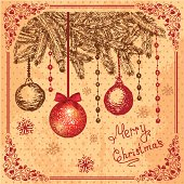 Vector Christmas Decoration Collection for Holiday Design.