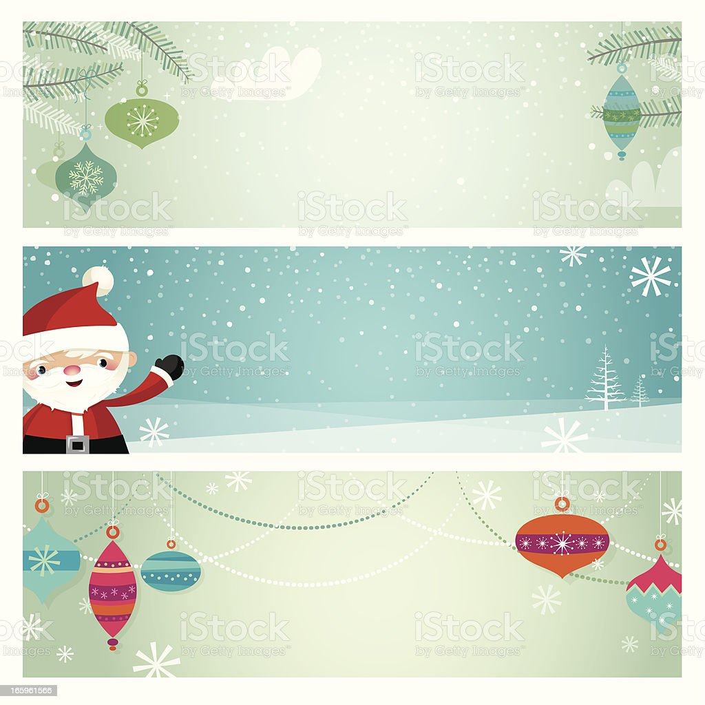 Christmas retro banners royalty-free stock vector art