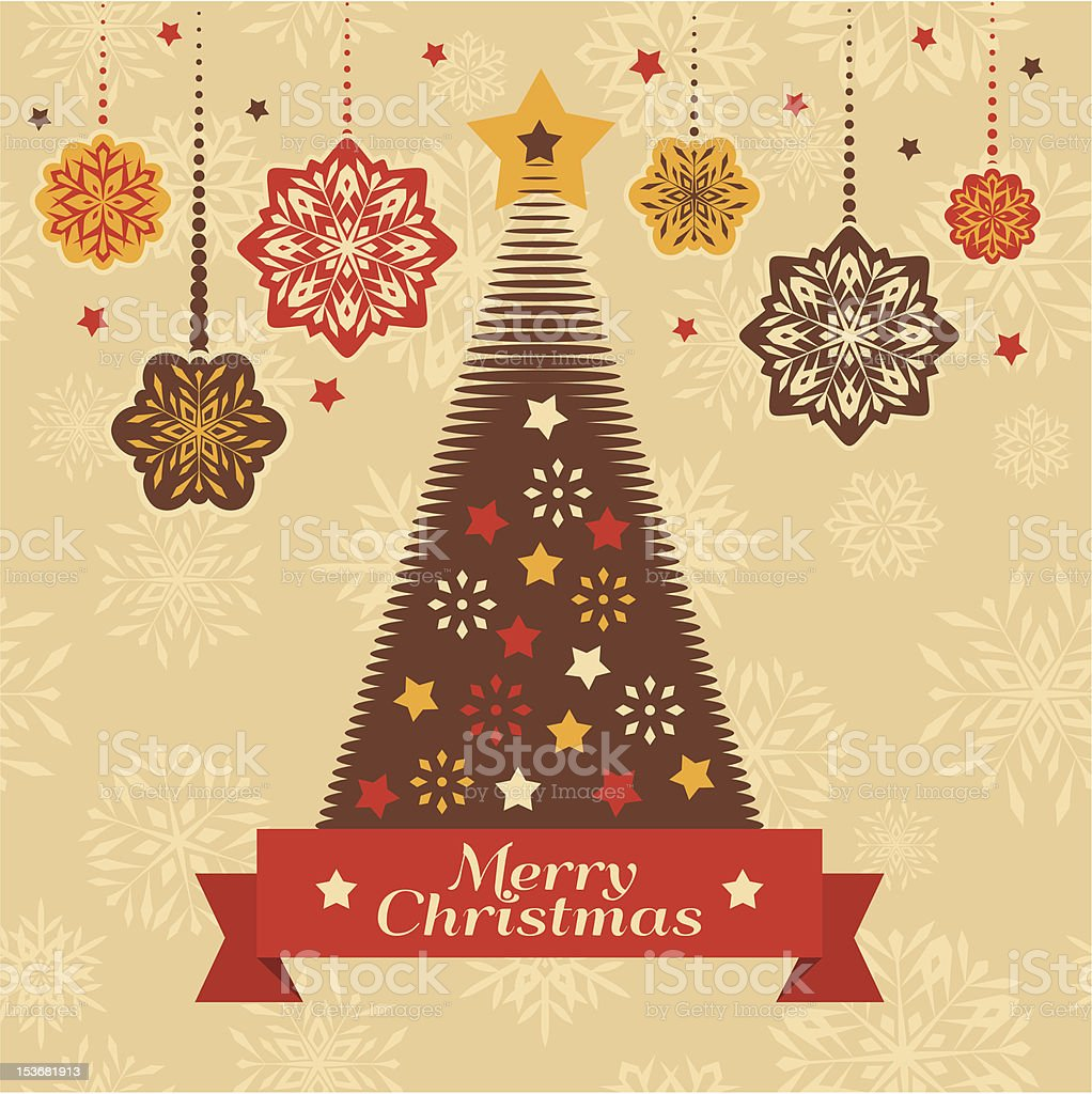 Christmas retro card royalty-free stock vector art