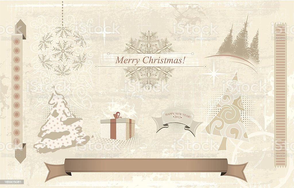 Christmas Retro Elements royalty-free christmas retro elements stock vector art & more images of award ribbon