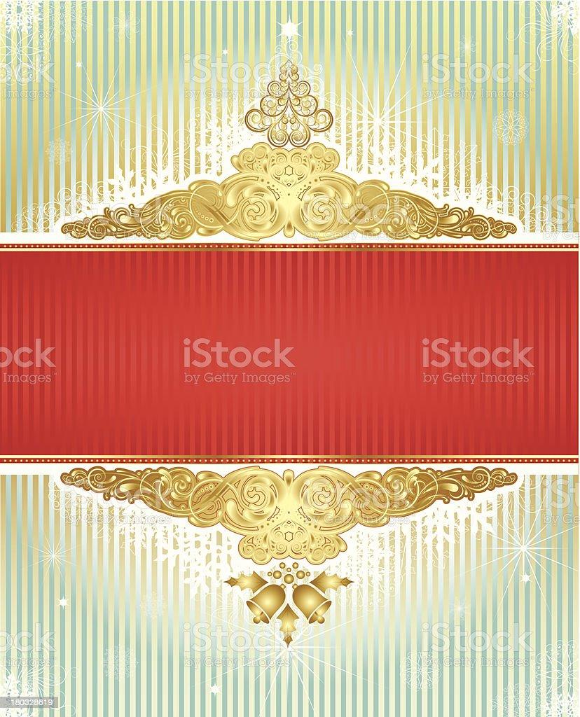 Christmas retro frame background royalty-free stock vector art