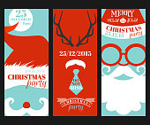 Christmas Retro Party Cards - Photo booth Style