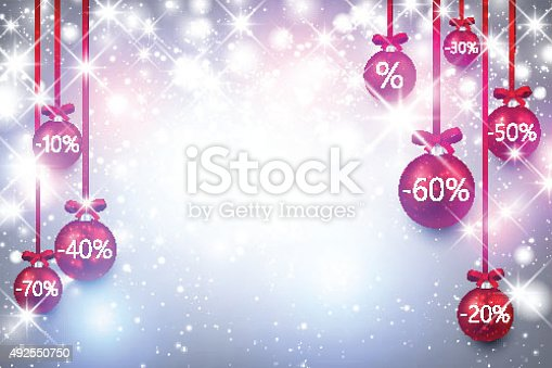 istock Christmas sale background 492550750