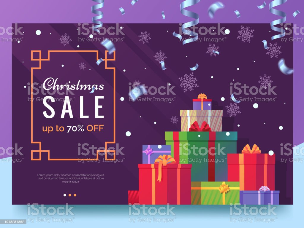 christmas sale banner design christmas card with colorful holiday