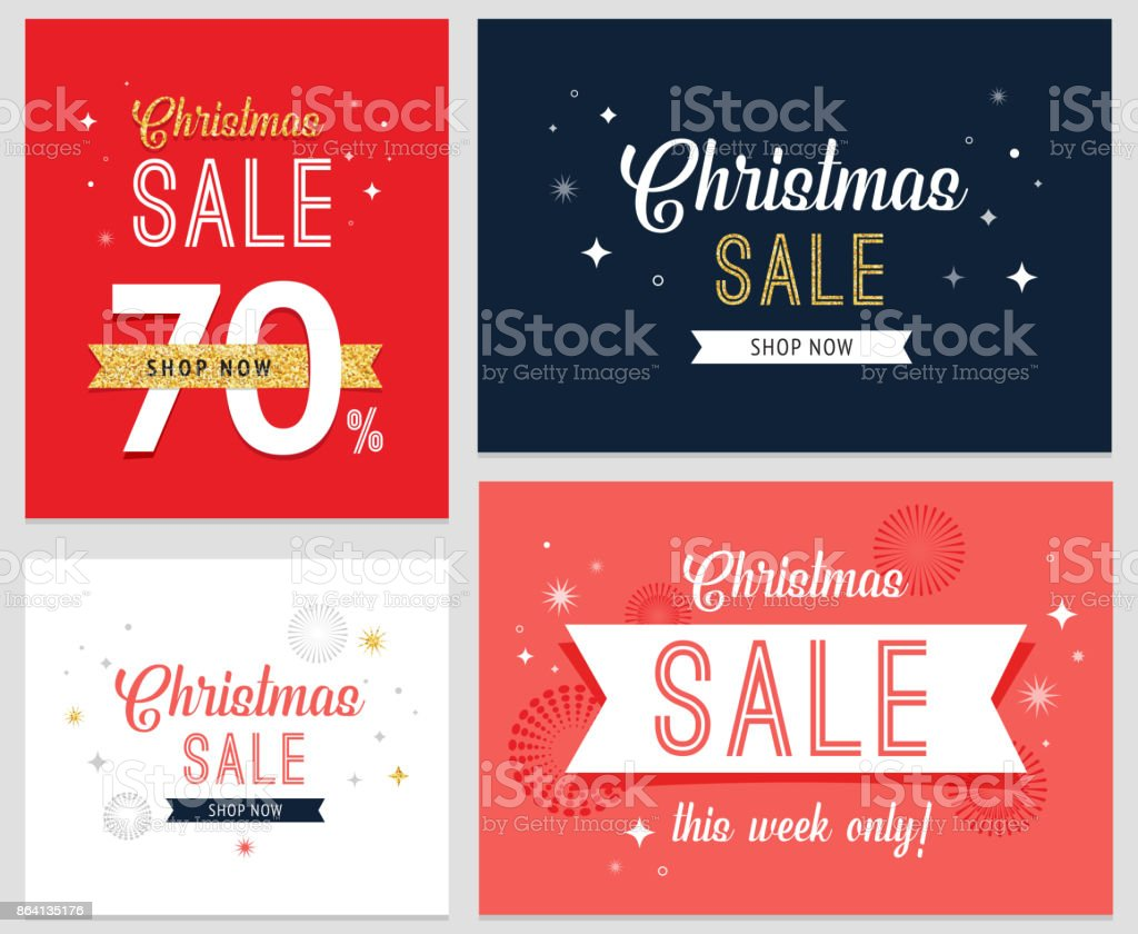 Christmas sale banner set, background, design template royalty-free christmas sale banner set background design template stock vector art & more images of advertisement