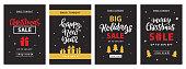 Christmas sale banner template design. Vector illustration. Invitation, poster, brochure, flyer, wallpaper.