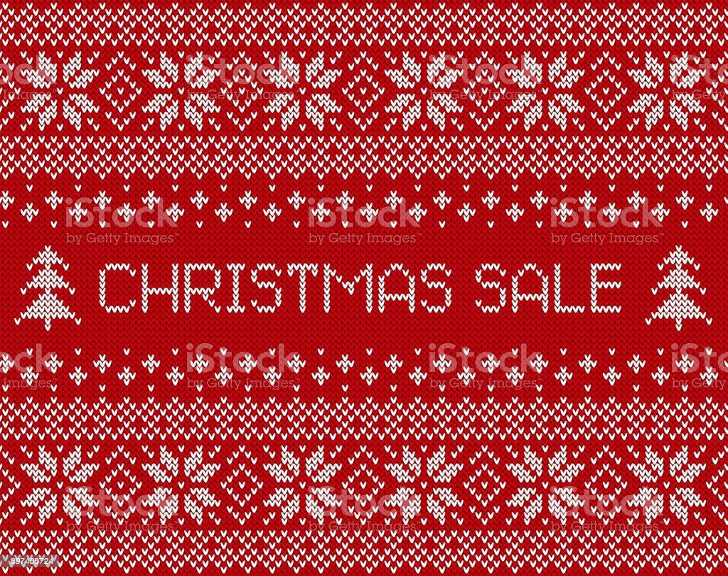 Weihnachten Verkauf Banner Mit Gestrickten Skandinavischen ...