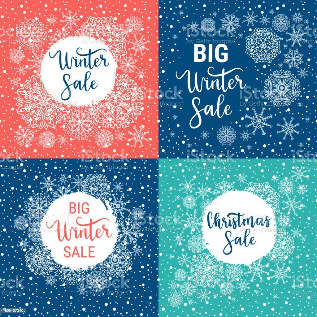 Winter Sale Banners College Course Banners