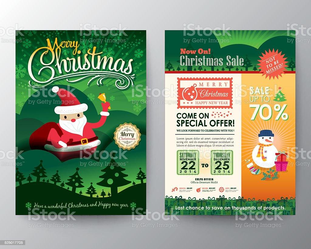 Ilustración de Christmas Sale Folleto Plantilla De Diseño De Diseño ...