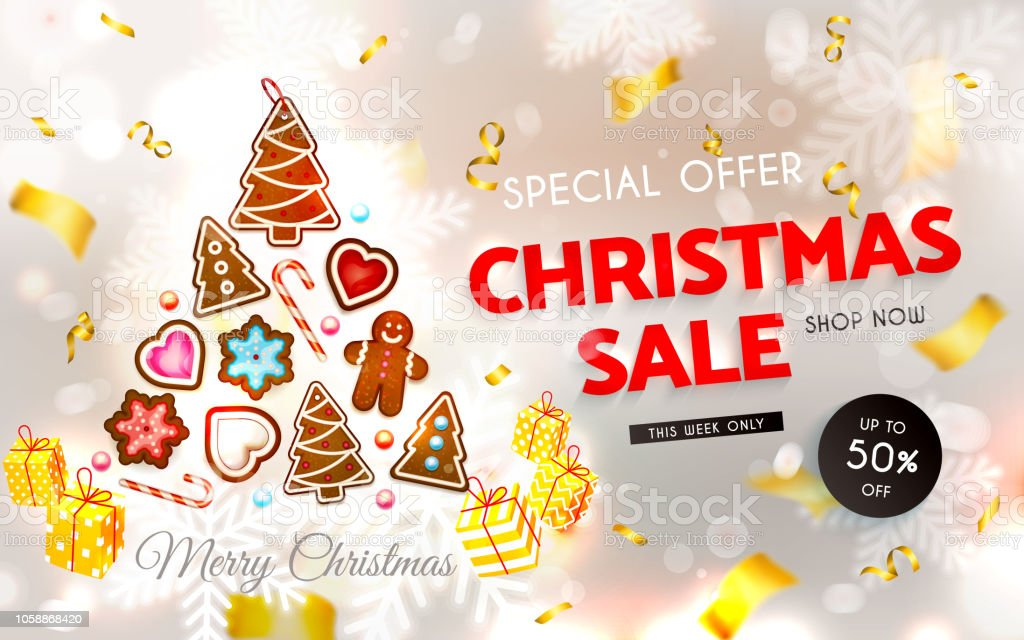 Christmas Sale Christmas Cookies Sweets Cake Snowflakes Gingerbread