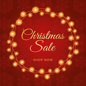 Christmas sale design for advertising, banners, leaflets and flyers. - Illustration
