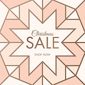 Christmas sale design for advertising, banners, leaflets and flyers. stock illustration