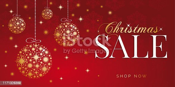istock Christmas sale design for advertising, banners, leaflets and flyers. Stock illustration 1171326350