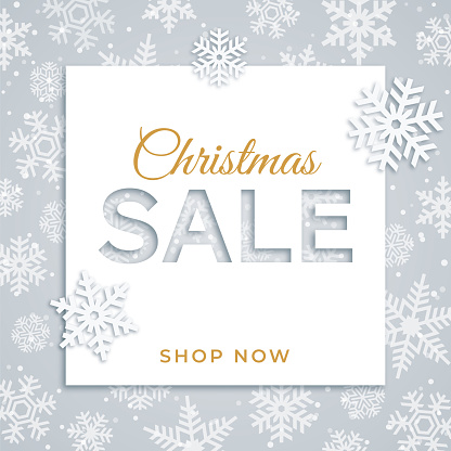 Christmas sale design for advertising, banners, leaflets and flyers.