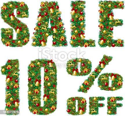 Christmas Sale 10% discount. EPS10.
