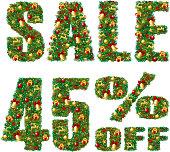 Christmas Sale 45% discount. EPS10.