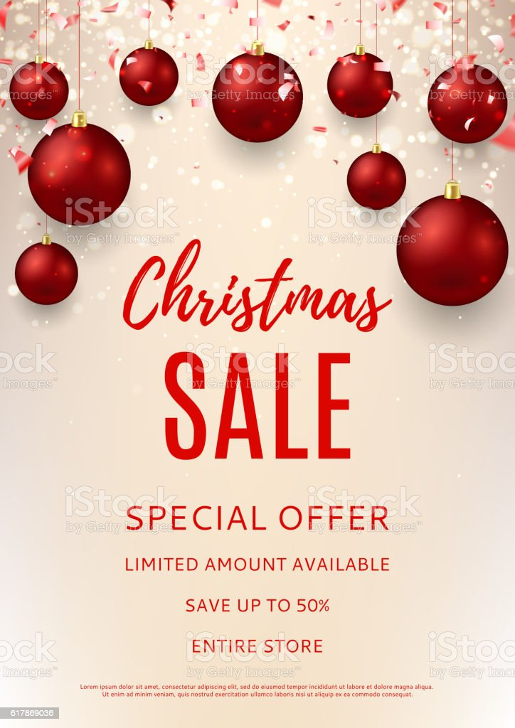Christmas Sale Flyer Template Stock Vector Art More Images Of - Art flyers templates free
