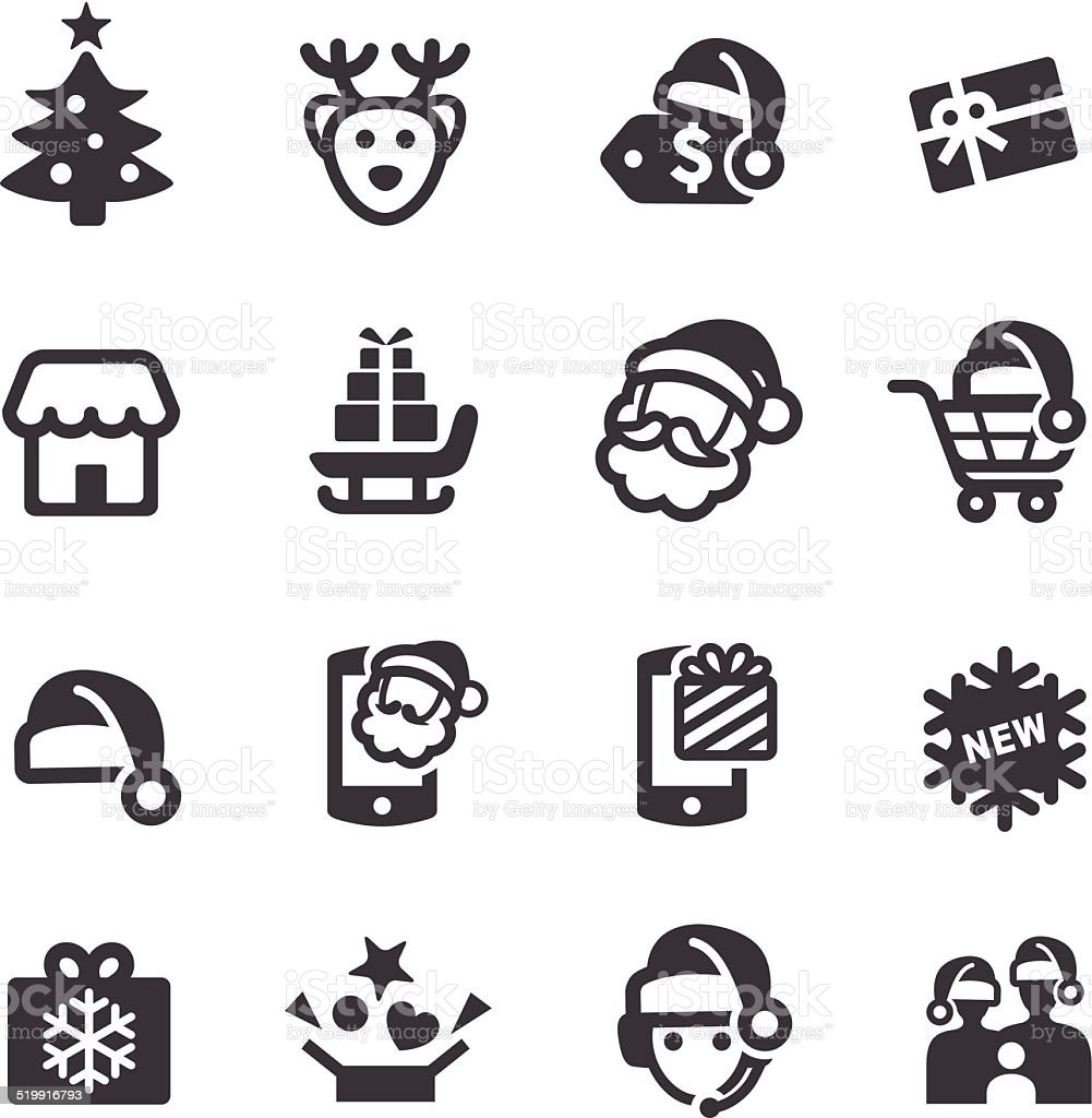 Christmas Sale Icons - Acme Series vector art illustration