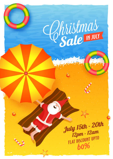 Best Christmas In July Illustrations Royalty Free Vector