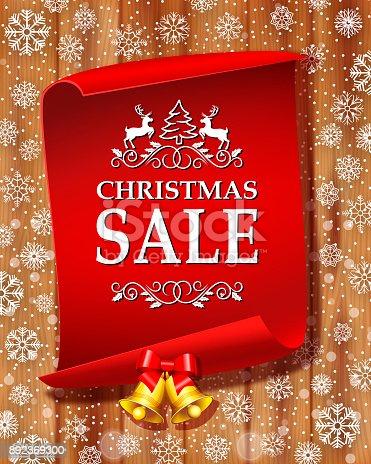 istock Christmas Sale Label 892369300