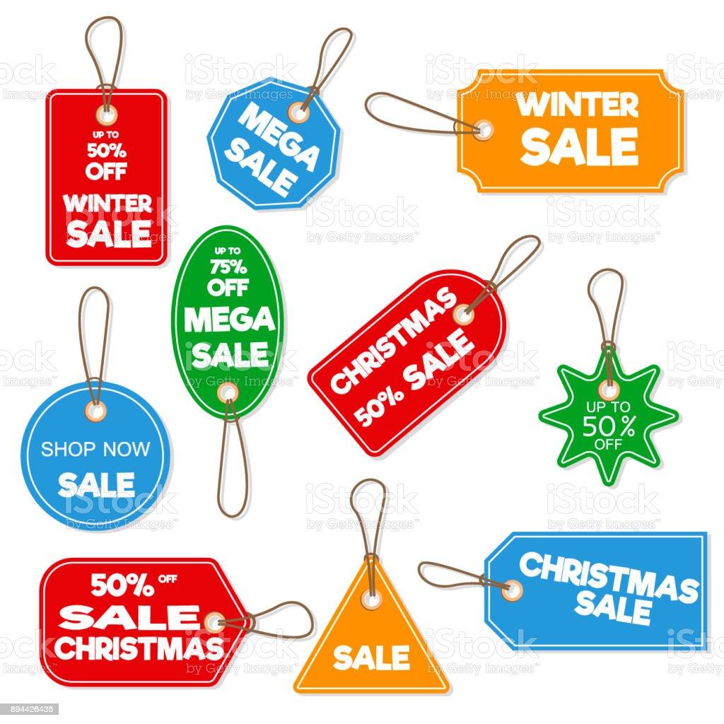 Weihnachten Verkauf Papier Tag Banner Urlaub Weihnachten Winter ...