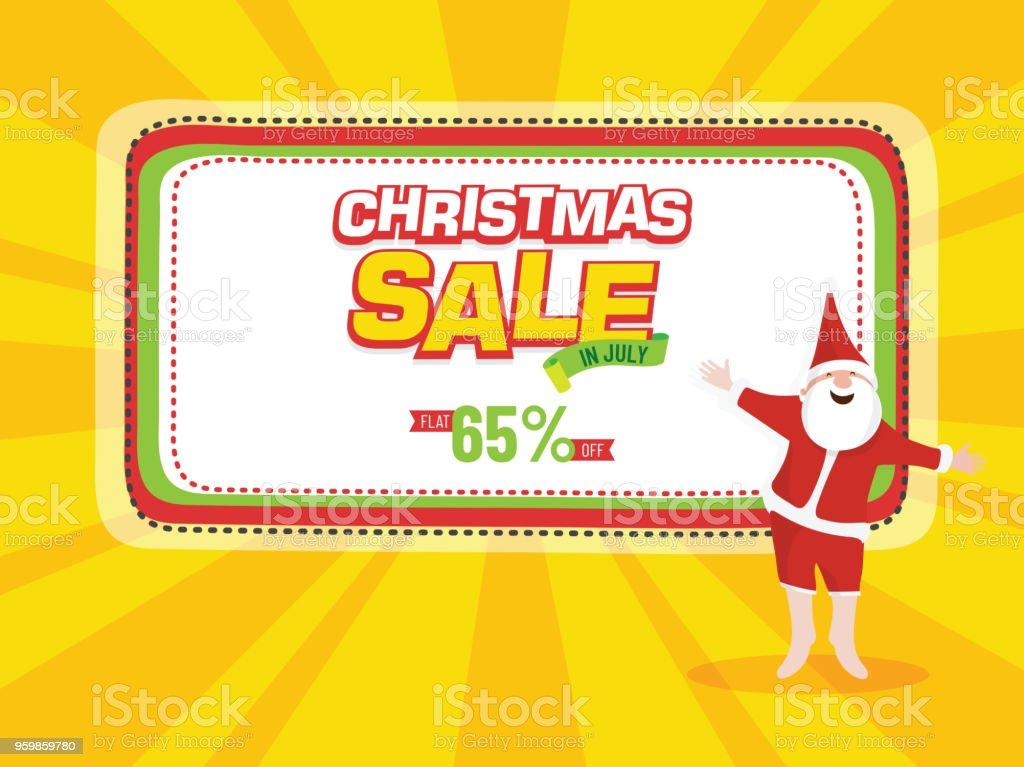 Weihnachten Verkauf Plakat Banner Oder Flyer Design Mit Happy Santa ...