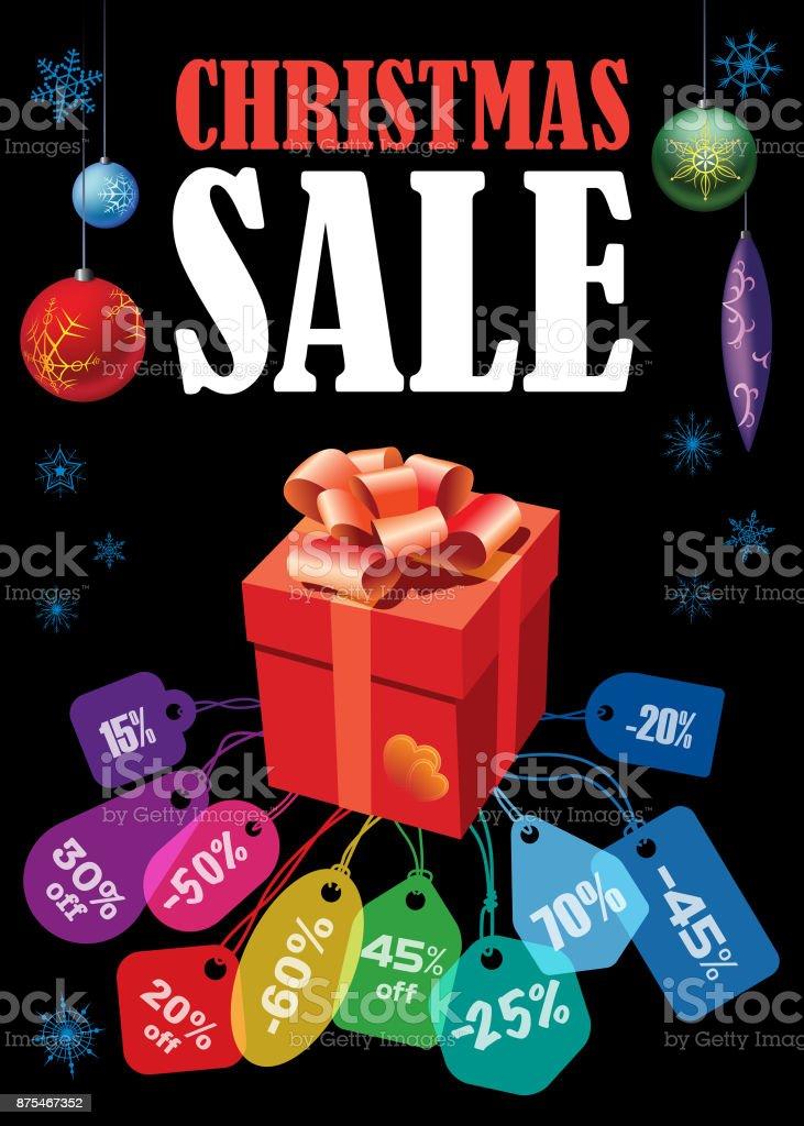 Christmas Sale poster vector art illustration