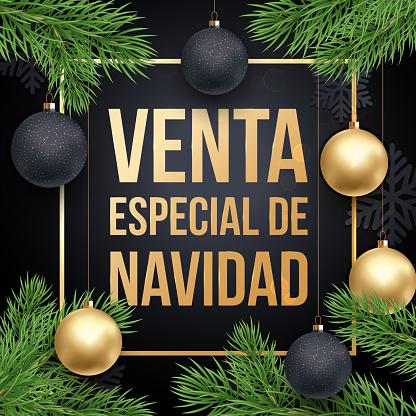 Christmas Sale Spanish Venta de Navidad discount promo poster