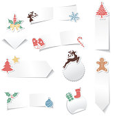 Holiday sale stickers with drop shadows. Created as CMYK. Files is sensibly layered for easier editing.