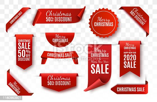 istock Christmas Sale Tags. Vector banner 1180960921