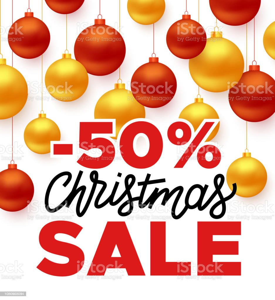 Christmas Sale vector promotion banner