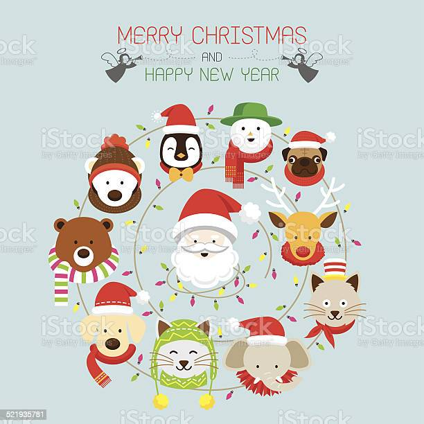 Christmas santa animals vector id521935781?b=1&k=6&m=521935781&s=612x612&h=rifnct1uiwfe hbud0up6dw5tsagb6uybo9aviy3huq=