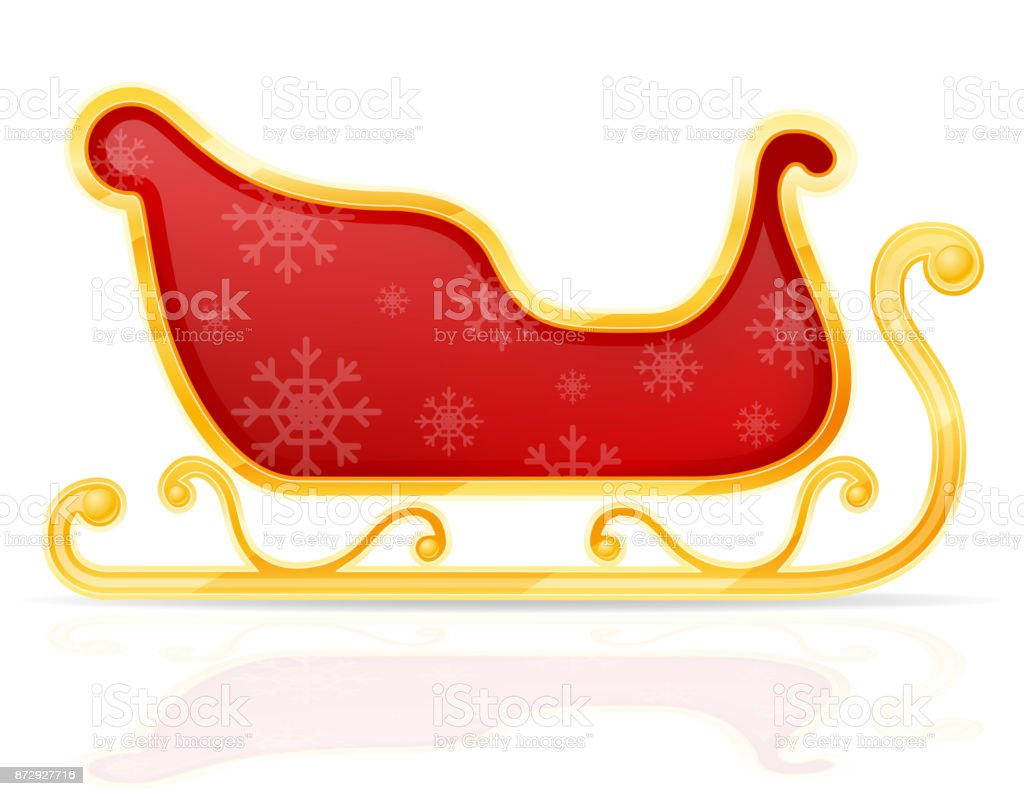 Royalty Free Horse Drawn Sleigh Clip Art Vector Images