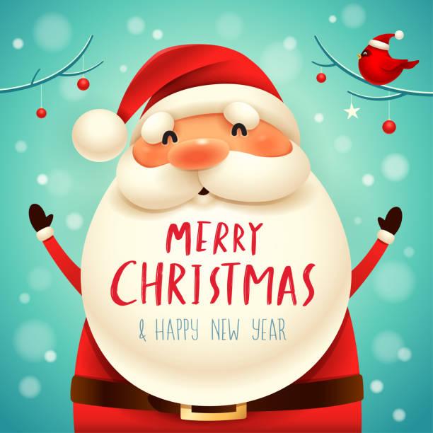 weihnachten weihnachtsmann. - santa stock-grafiken, -clipart, -cartoons und -symbole