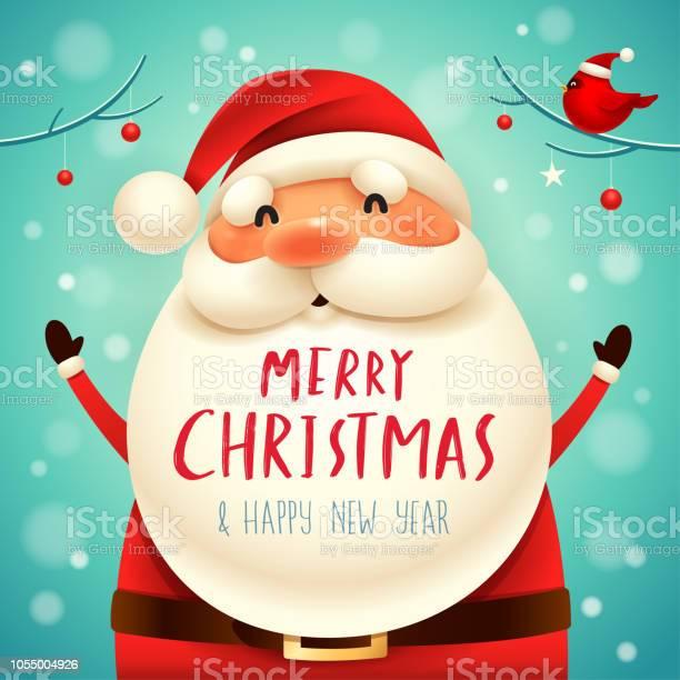 Christmas Santa Claus - Immagini vettoriali stock e altre immagini di Allegro