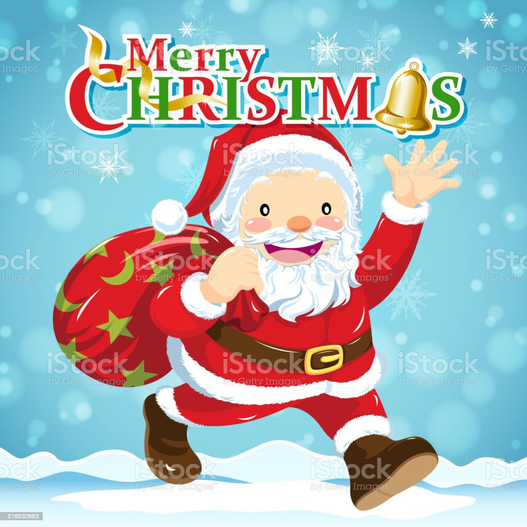 Weihnachten Weihnachtsmann Claus Stock Vektor Art und mehr Bilder ...