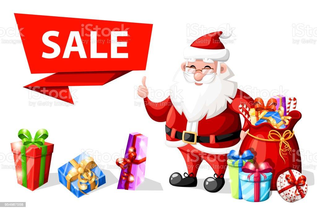 Weihnachten Weihnachtsmann Mit Daumen Geste In Der Nähe Von Sale ...