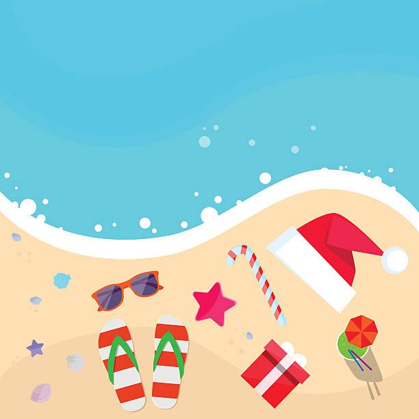 Best Beach Christmas Illustrations, Royalty-Free Vector ...