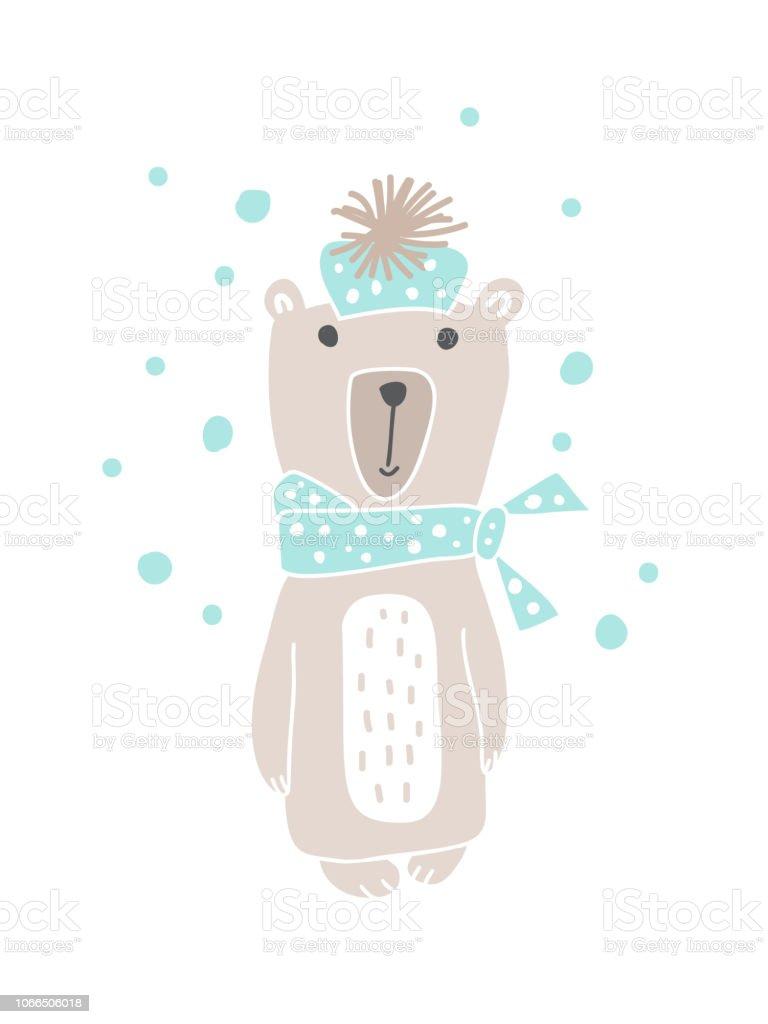 Ilustración de Diseño De Estilo Escandinavo De Navidad Dibujado ...