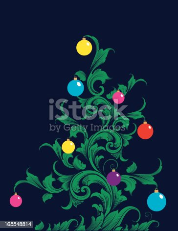 Christmas Scroll Tree