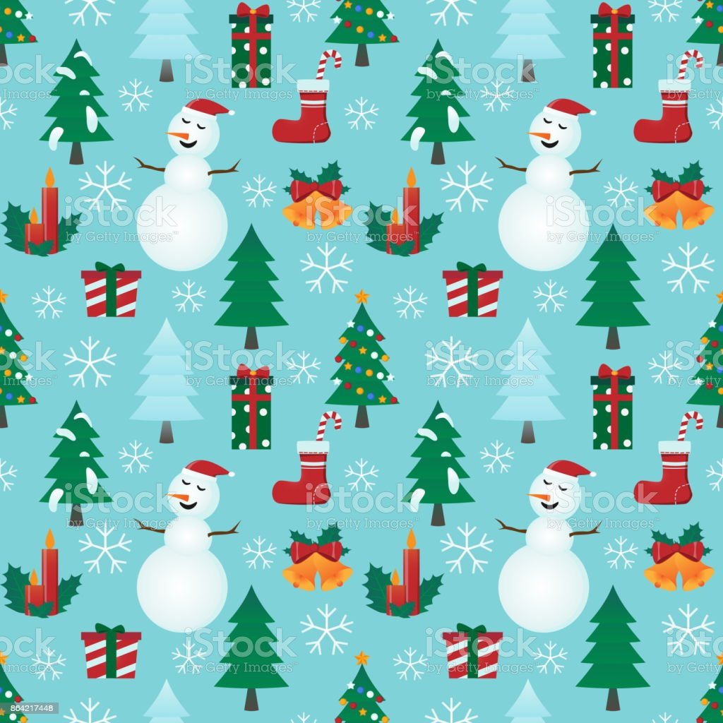 Christmas seamless background - Illustration royalty-free christmas seamless background illustration stock vector art & more images of backgrounds