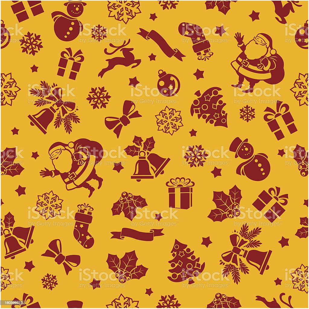 Christmas Seamless Background vector art illustration