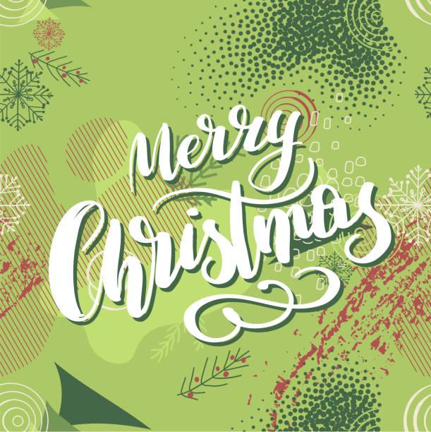 """ilustraciones, imágenes clip art, dibujos animados e iconos de stock de fondo sin costuras de navidad con letras """"feliz navidad"""" para el diseño de folletos, tarjetas, web, postal - font"""